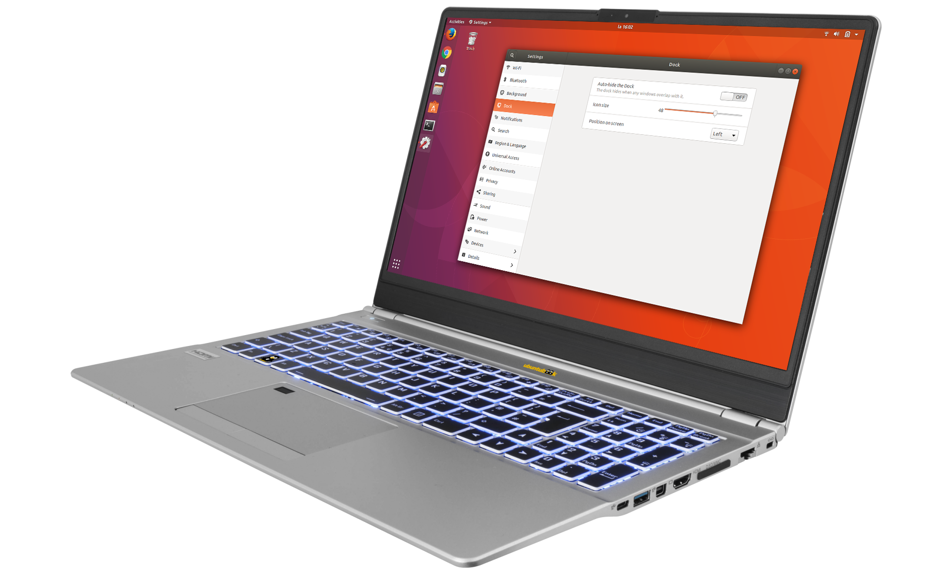 Ubuntu Secure Privacy NoteBook 15.6