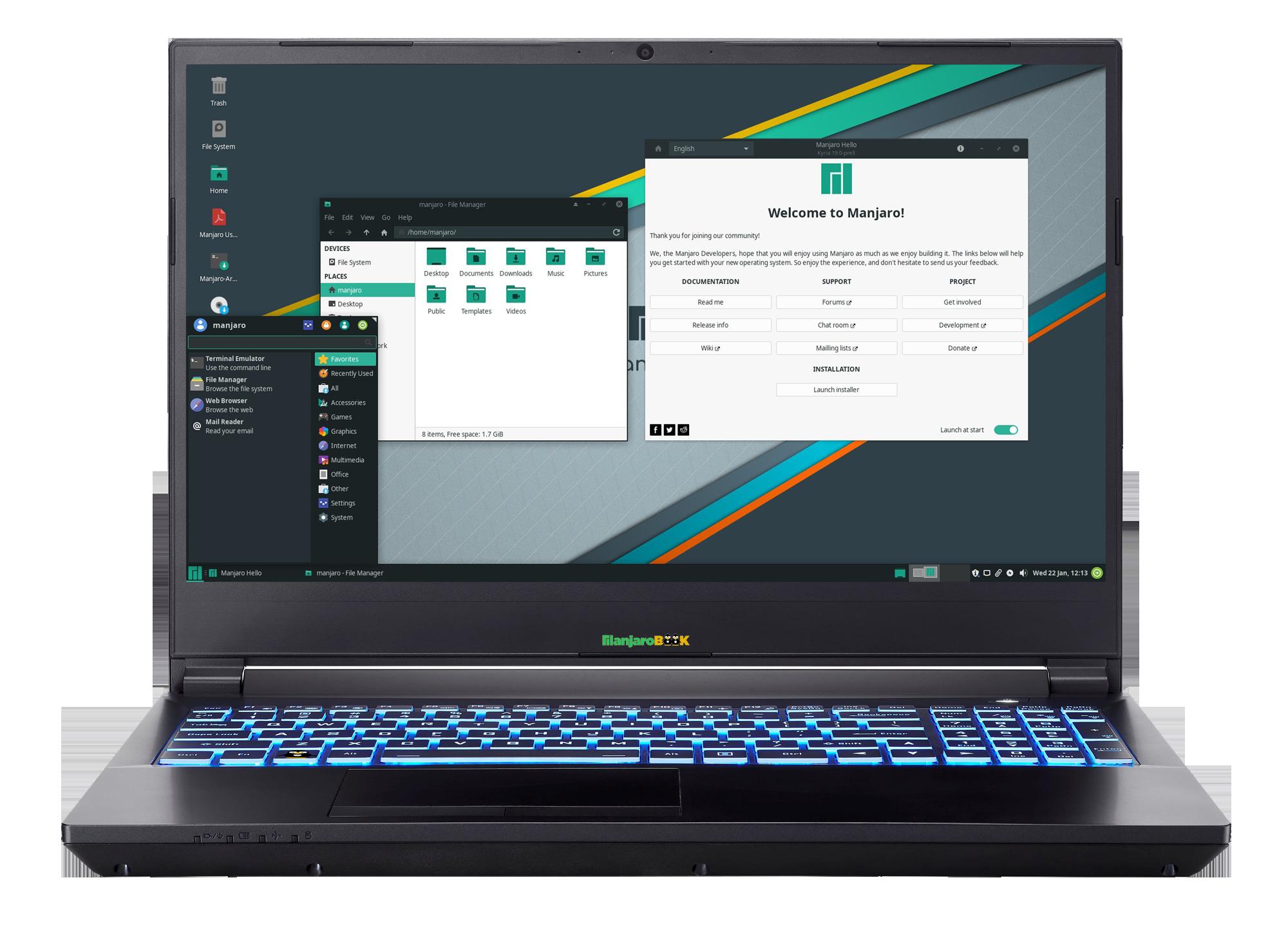 ManjaroBook AMD Ryzen