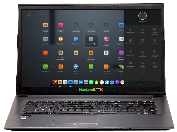 Manjaro NoteBook 17.3