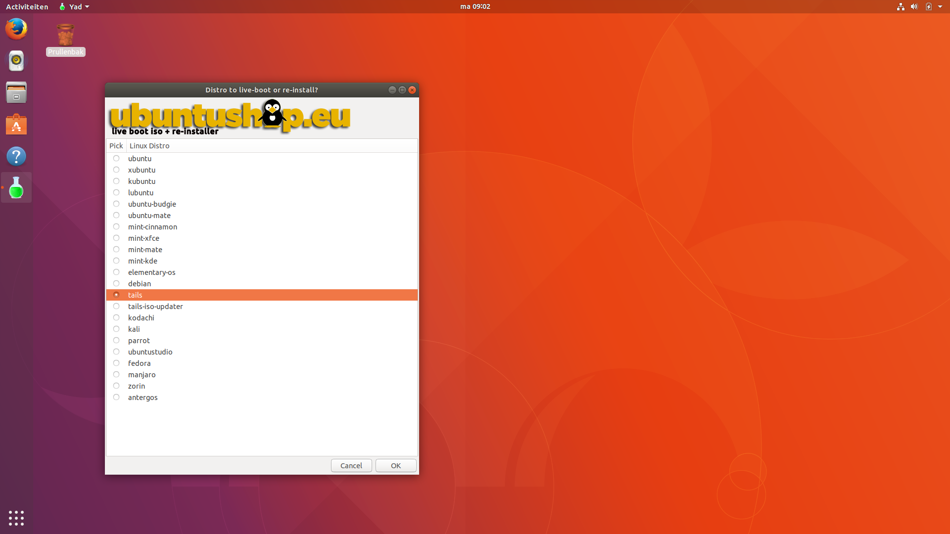 Tails Boot Option Ubuntu/Linux-mint - Ubuntushop eu
