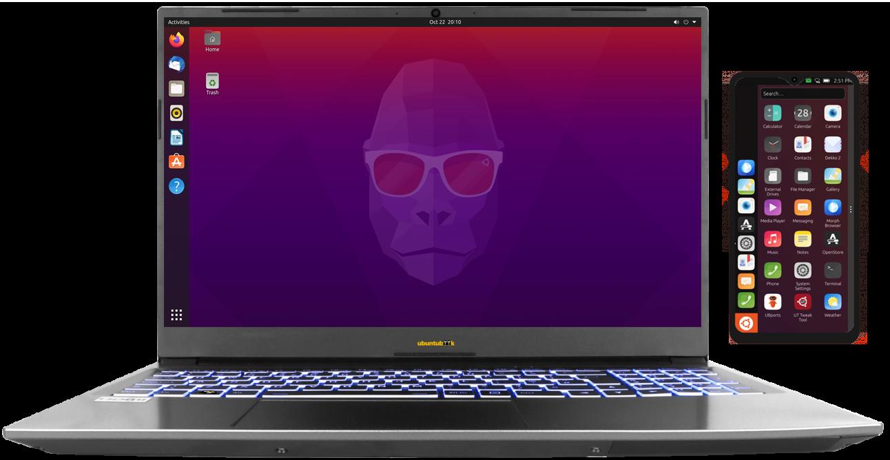 Ubuntu Privacy Pack (notebook + Smartphone)