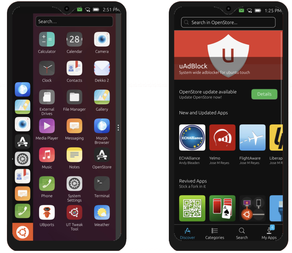 Volla Ubuntu Phone Space Grey